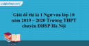Đề thi kì 1 môn Ngữ văn lớp 10 năm 2019 - 2020 trường THPT chuyên - ĐHSP Hà Nội