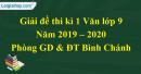 Đề thi kì 1 môn Văn lớp 9 năm 2019 - 2020 huyện Bình Chánh