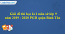 Đề thi học kì 1 môn sử lớp 9 năm 2019 - 2020 PGD quận Bình Tân