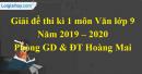 Đề thi kì 1 môn Văn lớp 9 năm 2019 - 2020 quận Hoàng Mai