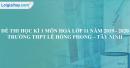 Đề thi học kì 1 môn hoá lớp 11 năm 2019 - 2020 trường THPT Lê Hồng Phong – Tây Ninh