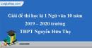 Đề thi học kì 1 môn Ngữ văn lớp 10 năm 2019 - 2020 trường THPT Nguyễn Hữu Thọ