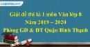 Đề thi kì 1 môn Văn lớp 8 năm 2019 - 2020 quận Bình Thạnh