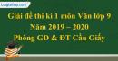 Đề thi kì 1 môn Văn lớp 9 năm 2019 - 2020 quận Cầu Giấy