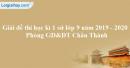 Đề thi học kì 1 môn sử lớp 9 năm 2019 - 2020 Phòng GD&ĐT Châu Thành