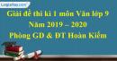 Đề thi kì 1 môn Văn lớp 9 năm 2019 - 2020 quận Hoàn Kiếm