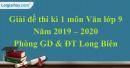 Đề thi kì 1 môn Văn lớp 9 năm 2019 - 2020 quận Long Biên