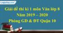 Đề thi kì 1 môn Ngữ văn lớp 8 năm 2019 - 2020 quận 10