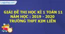 Đề thi kì 1 môn toán lớp 11 năm 2019 - 2020 trường THPT Kim Liên