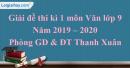 Đề thi kì 1 môn Văn lớp 9 năm 2019 - 2020 quận Thanh Xuân