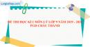 Đề thi học kì 1 môn lý lớp 9 năm 2019 - 2020 PGD Châu Thành