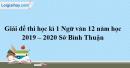 Đề thi học kì 1 môn Ngữ văn lớp 12 năm 2019 - 2020 Sở Bình Thuận