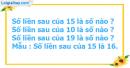 Bài 1, bài 2, bài 3, bài 4 trang 107 sgk toán lớp 1