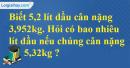 Bài 3 trang 72 sgk Toán 5