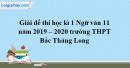 Đề thi học kì 1 môn Ngữ văn lớp 11 năm 2019 - 2020 trường THPT Bắc Thăng Long