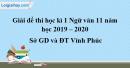 Đề thi học kì 1 môn Ngữ văn lớp 11 năm 2019 - 2020 Sở GD và ĐT Vĩnh Phúc