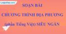 Chương trình địa phương (phần Tiếng Việt) siêu ngắn lớp 9 tập 2