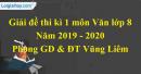 Giải đề thi kì 1 môn Ngữ văn lớp 8 năm 2019 - 2020 Vũng Liêm