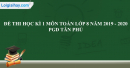 Đề thi học kì 1 môn toán lớp 8 năm 2019 - 2020 PGD Tân Phú