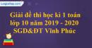Đề thi học kì 1 môn toán lớp 10 năm 2019 - 2020 sở giáo dục Vĩnh Phúc
