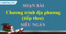 Soạn bài Chương trình địa phương (phần Tiếng Việt) siêu ngắn lớp 8 tập 2
