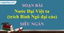 Soạn bài Nước Đại Việt ta siêu ngắn