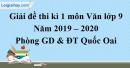 Đề thi kì 1 môn Văn lớp 9 năm 2019 - 2020 huyện Quốc Oai
