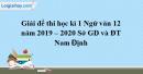 Đề thi học kì 1 môn Ngữ văn lớp 12 năm 2019 - 2020 Sở GD và ĐT Nam Định