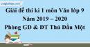 Đề thi kì 1 môn Văn lớp 9 năm 2019 - 2020 Thủ Dầu Một