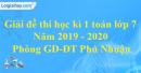 Đề thi học kì 1 môn toán lớp 7 năm 2019 - 2020 phòng GDĐT Phú Nhuận