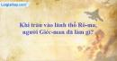 Khi tràn vào lãnh thổ Rô-ma, người Giéc-man đã làm gì?