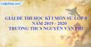 Đề thi học kì 1 môn sử lớp 8 năm 2019 - 2020 trường THCS Nguyễn Văn Phú