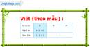 Bài 1, 2, 3, 4, 5 trang 56 sgk Toán 3