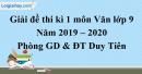 Đề thi kì 1 môn Văn lớp 9 năm 2019 - 2020 Duy Tiên
