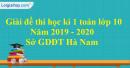 Đề thi học kì 1 môn toán lớp 10 năm 2019 - 2020 sở GDĐT Hà Nam