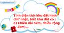 B. Hoạt động thực hành - Bài 59 : Ki-lô-mét vuông