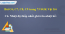 Bài C6, C7, C8, C9 trang 73 SGK Vật lí 6