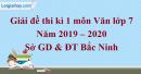 Đề thi kì 1 môn Văn lớp 9 năm 2019 - 2020 Bắc Ninh