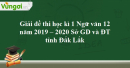 Đề thi học kì 1 môn Ngữ văn lớp 12 năm 2019 - 2020  Sở GD và ĐT Đắk Lắk