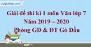 Đề thi kì 1 môn Văn lớp 9 năm 2019 - 2020 Gò Dầu
