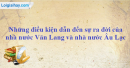 Những điều kiện dẫn đến sự ra đời của nhà nước Văn Lang và nhà nước Âu Lạc.
