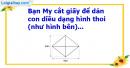 C. Hoạt động ứng dụng - Bài 87 : Diện tích hình thoi