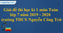 Đề thi học kì 1 môn toán lớp 7 năm 2019 - 2020 trường THCS Nguyễn Công Trứ