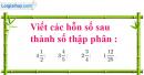 Bài 1 trang 80 Tiết 50 sgk Toán 5
