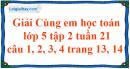 Giải câu 1, 2, 3, 4 trang 13, 14