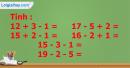 Bài 1, bài 2, bài 3, bài 4 trang 111 sgk toán lớp 1