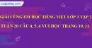 Giải câu 4, 5, 6, vui học trang 10, 11