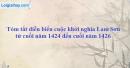Hãy trình bày tóm tắt diễn biến cuộc khởi nghĩa Lam Sơn từ cuối năm 1424 đến cuối năm 1426.
