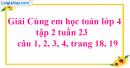 Giải câu 1, 2, 3, 4 trang 18, 19
