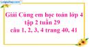 Giải câu 1, 2, 3, 4 trang 40, 41
